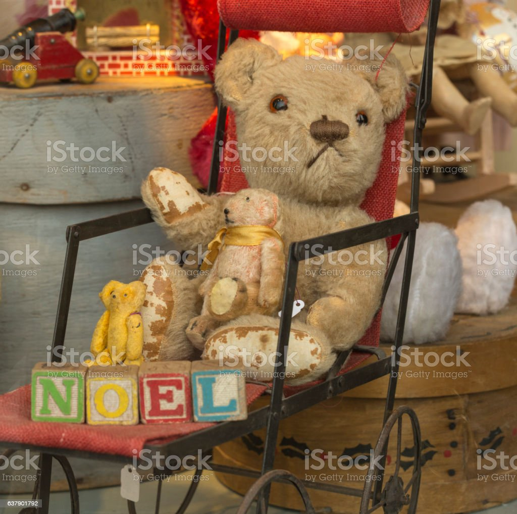 Antique Toys and Teddy Bear stock photo
