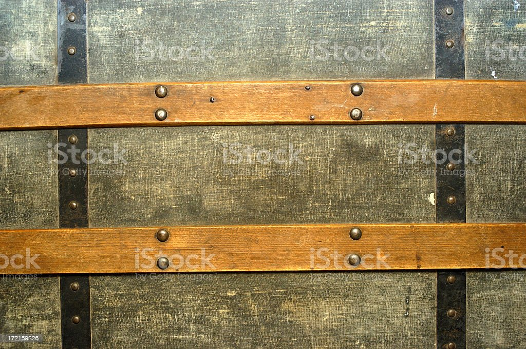 antique trunk lid stock photo