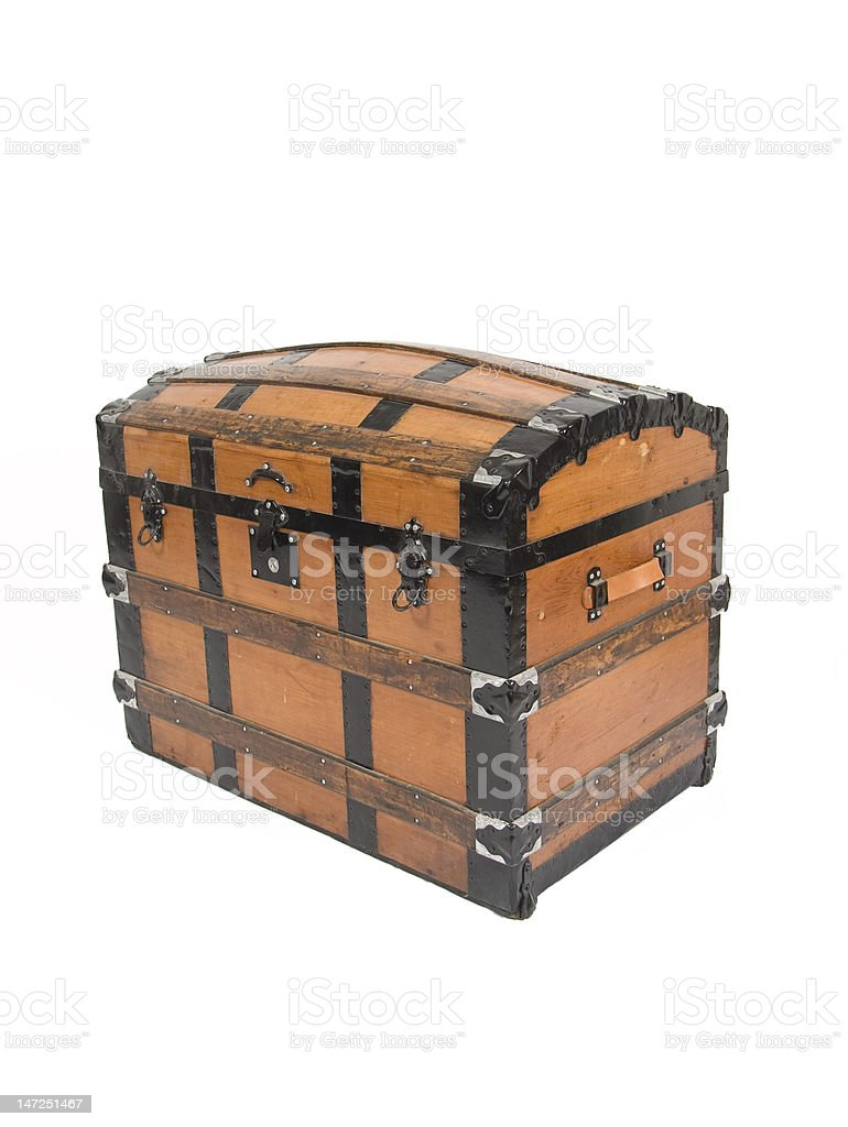 Antique Trunk royalty-free stock photo