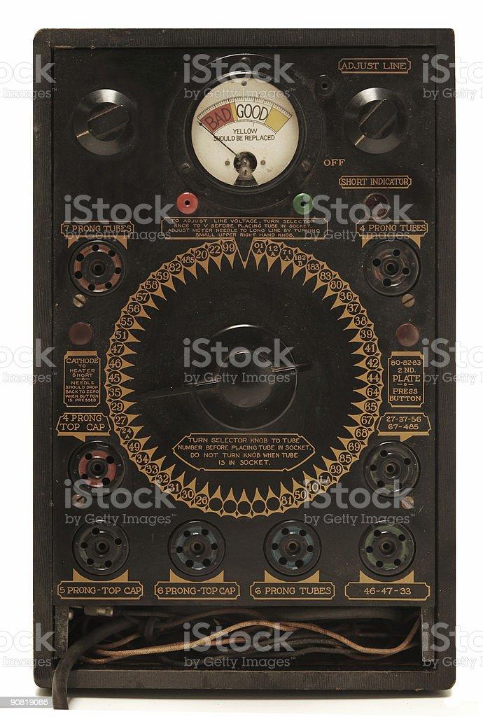 antique tube tester royalty-free stock photo