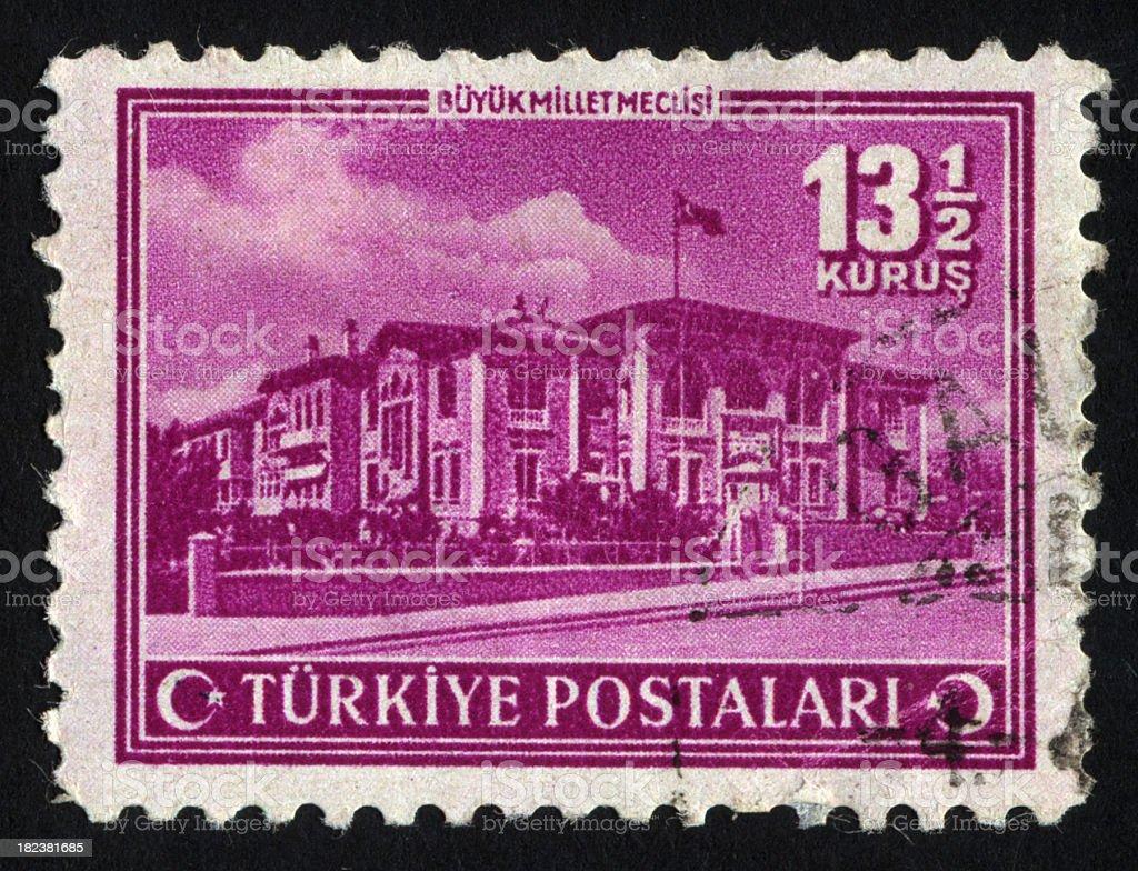 Antique Turkish Postage Stamp royalty-free stock photo