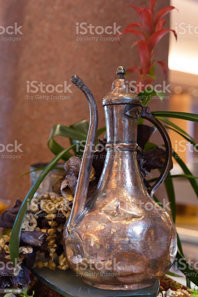 Antique turkish teapot stock photo