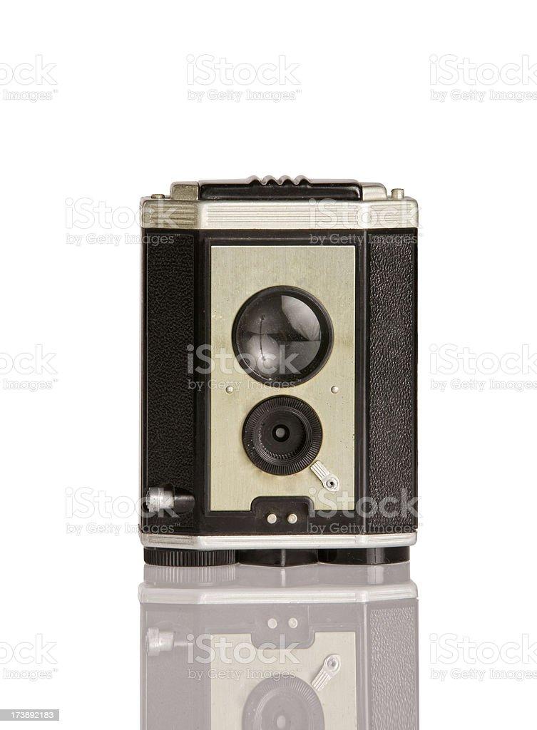 antique twin reflex camera stock photo