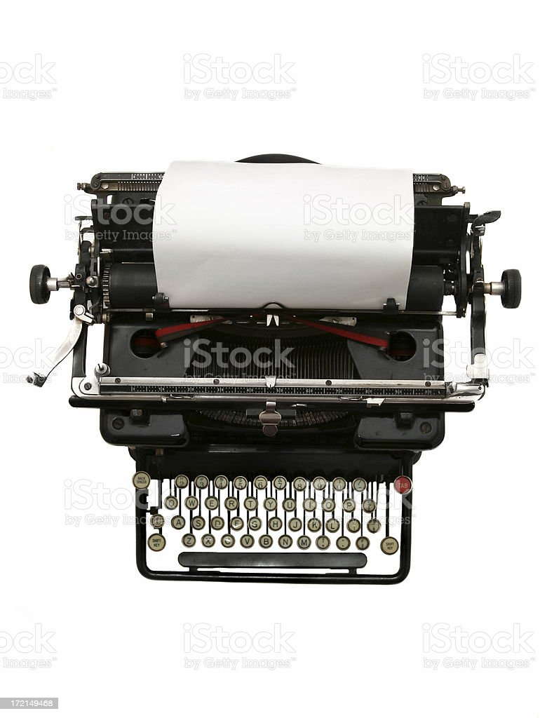Antique Type Writer royalty-free stock photo