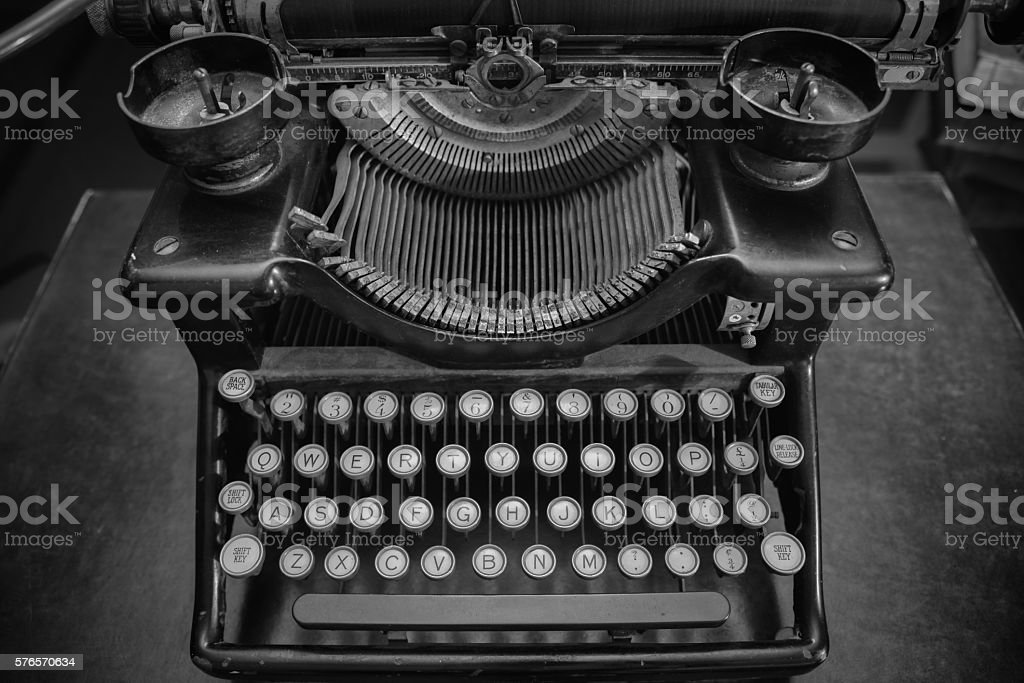 Antique typerwriter stock photo