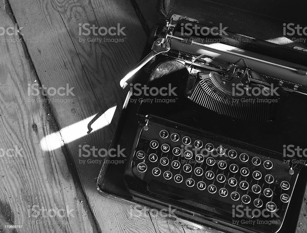 Antique typewriter black royalty-free stock photo