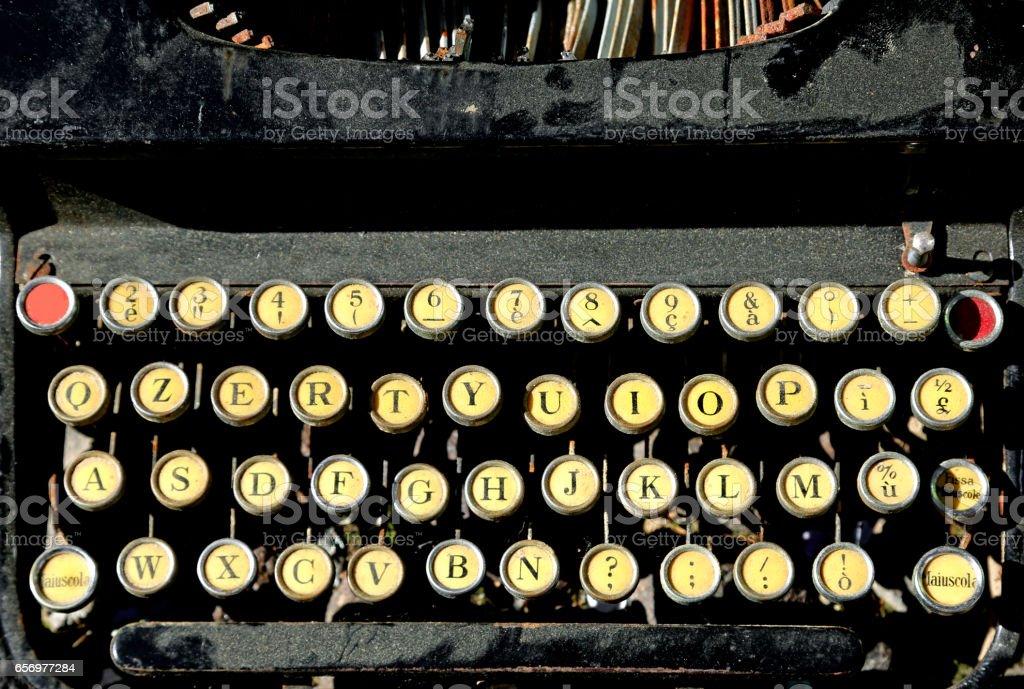 antique typewriter for writers stock photo