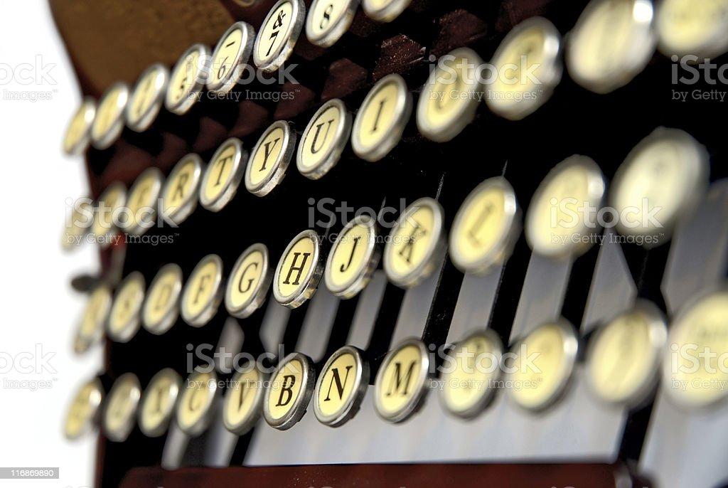 Antique typewriter keyboard royalty-free stock photo