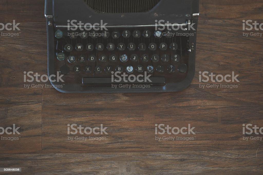 アンティークタイプライターキーボード ロイヤリティフリーストックフォト