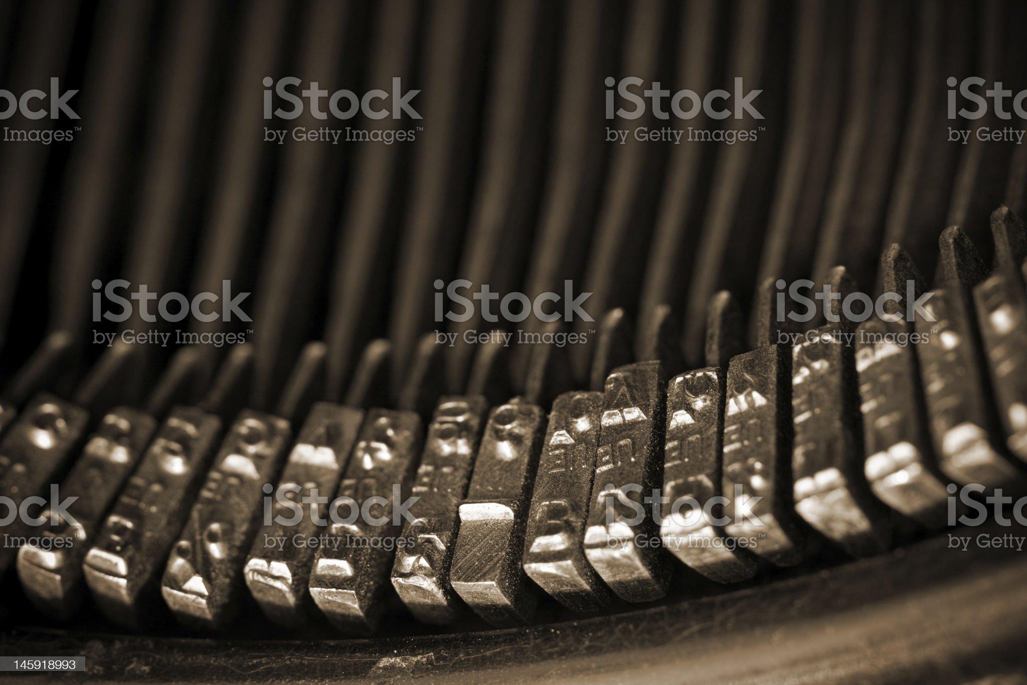 Antique Typewriter Keys II royalty-free stock photo