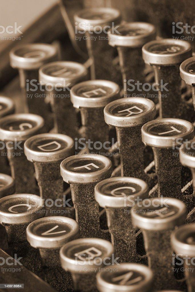 Antique Typewriter Keys III royalty-free stock photo
