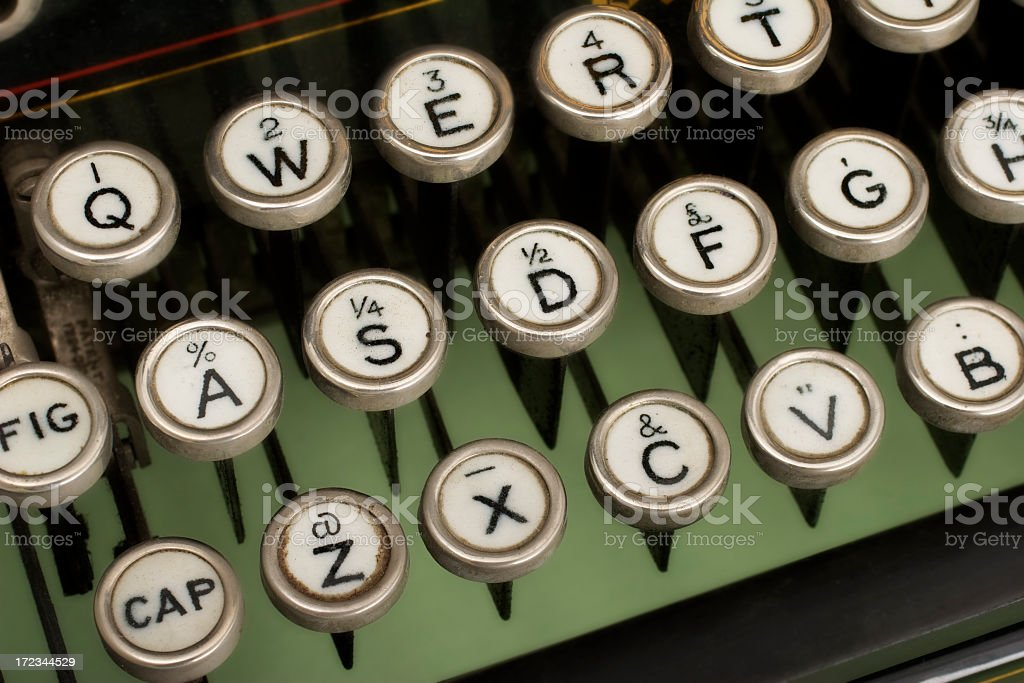 Antique typewriter keys royalty-free stock photo