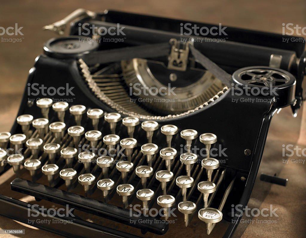 Antique Typewriter on warm background royalty-free stock photo