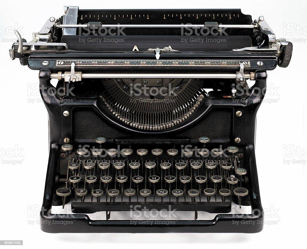 antique typewriter on white royalty-free stock photo