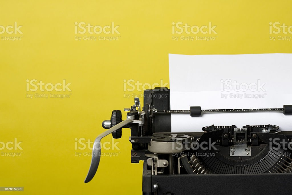 Antique Typewriter stock photo