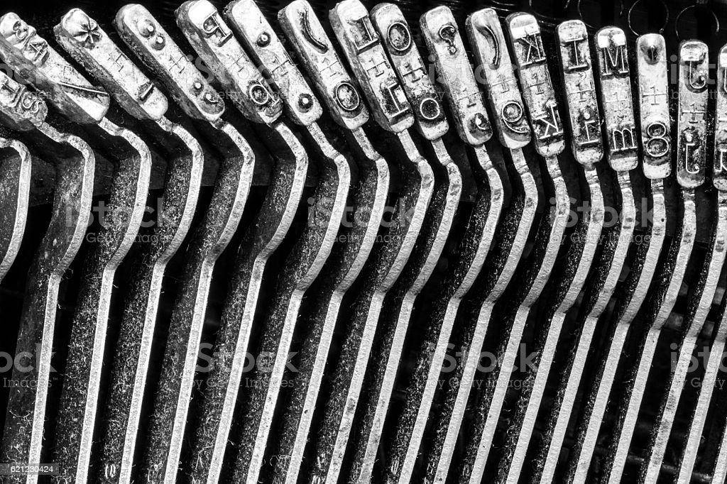 Antique Typewriter Showing Traditional Typebars VII stock photo