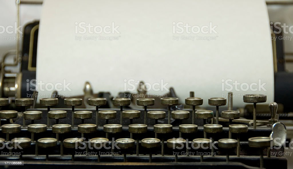 Antique Typewriter with Copy royalty-free stock photo