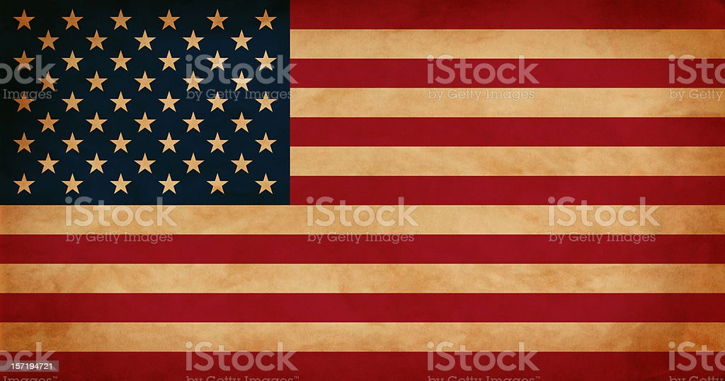 Antique USA Flag stock photo