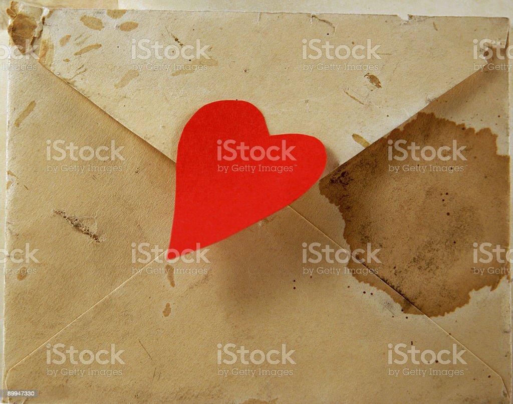 antique valentine royalty-free stock photo
