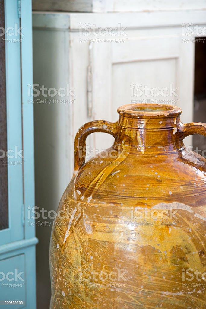 Antique vase in Italy stock photo