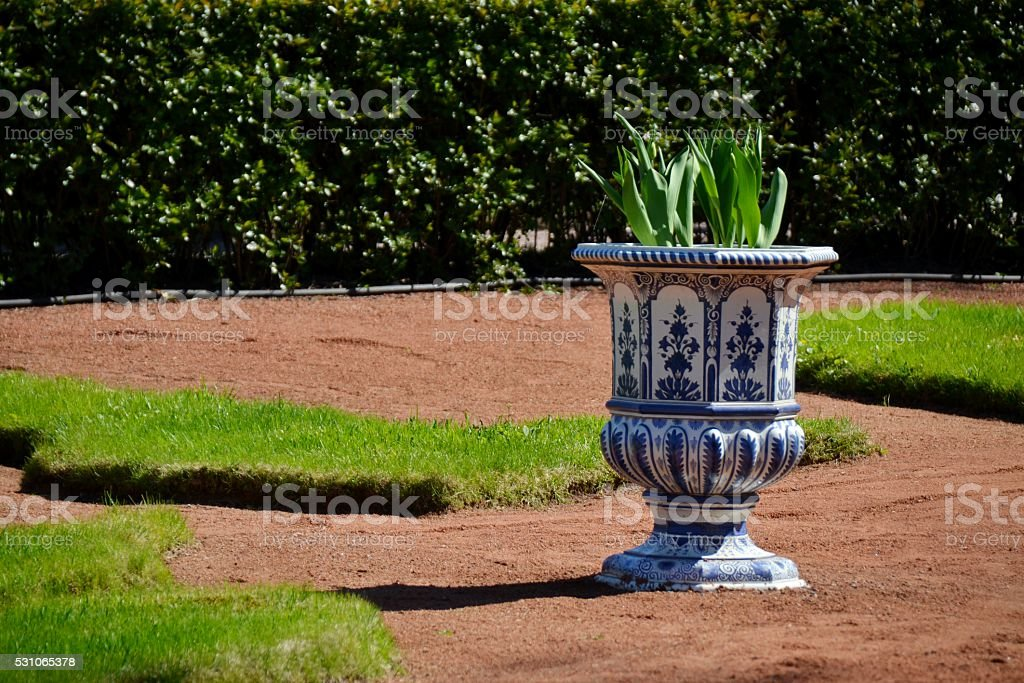 Antique vase stock photo