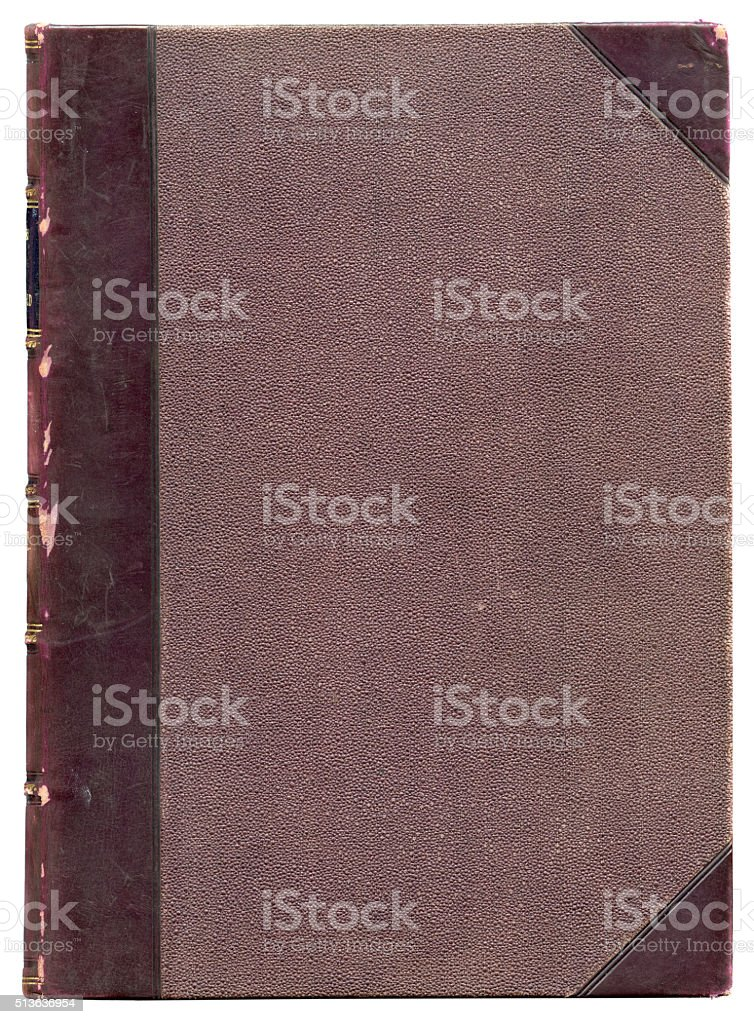 Antique victorian book cover stock photo
