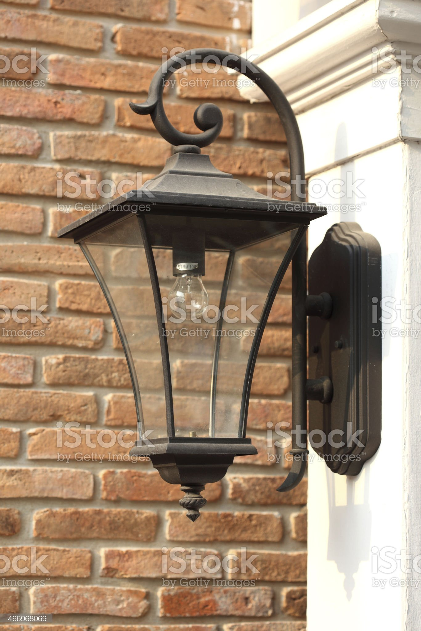Antique Victorian Outdoor Wall Lamp royalty-free stock photo