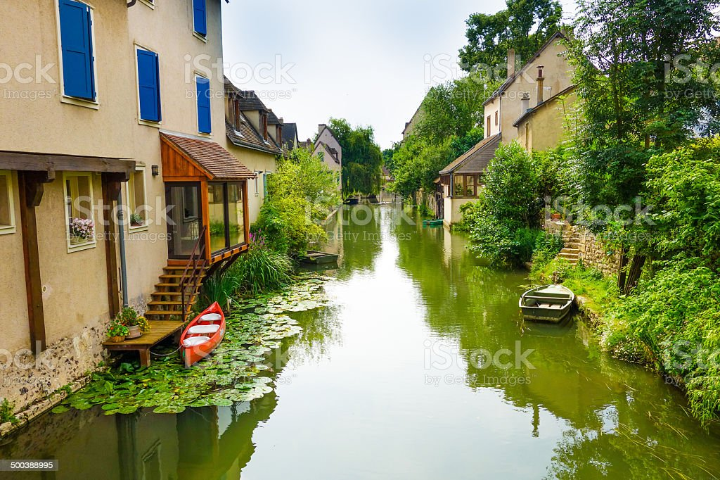 Antique Village in france stock photo