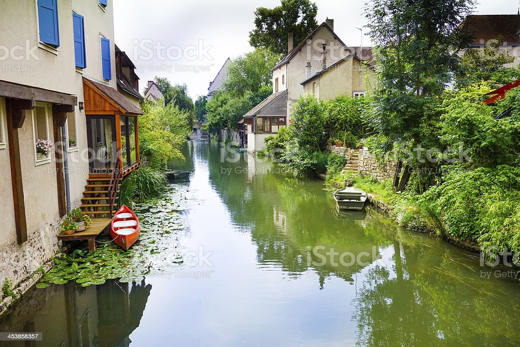 Antique Village stock photo