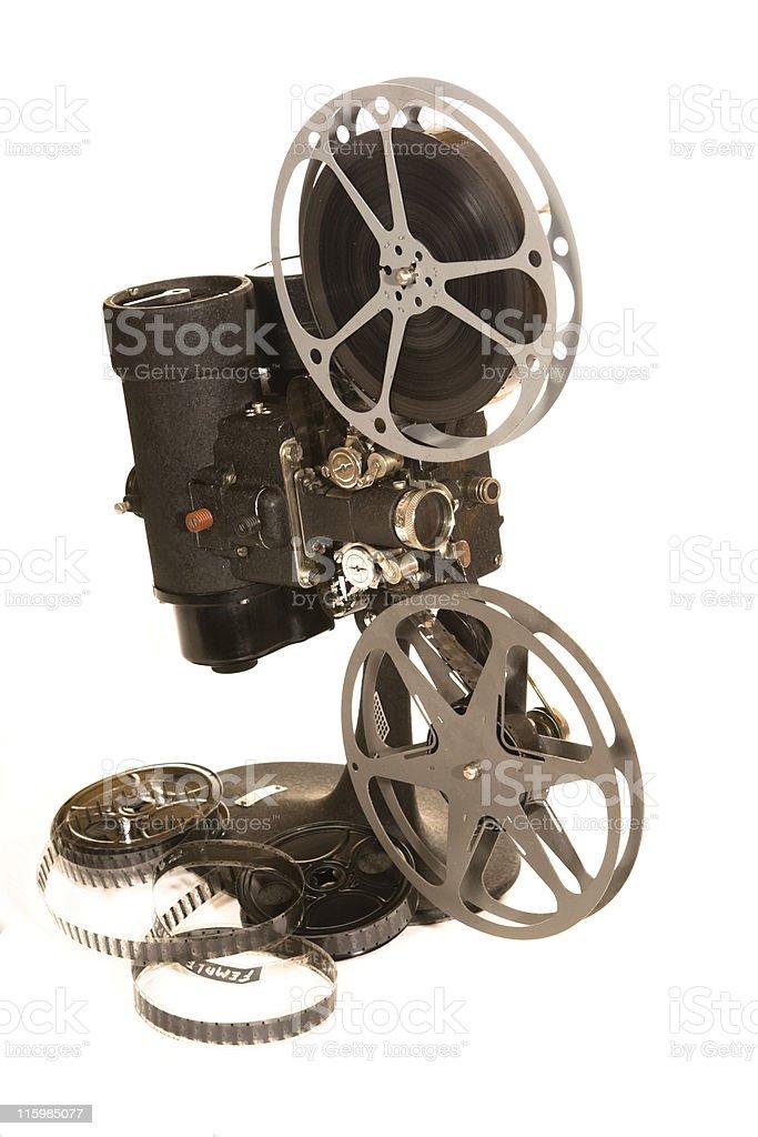 Antique Vintage 16 mm Movie Projector stock photo