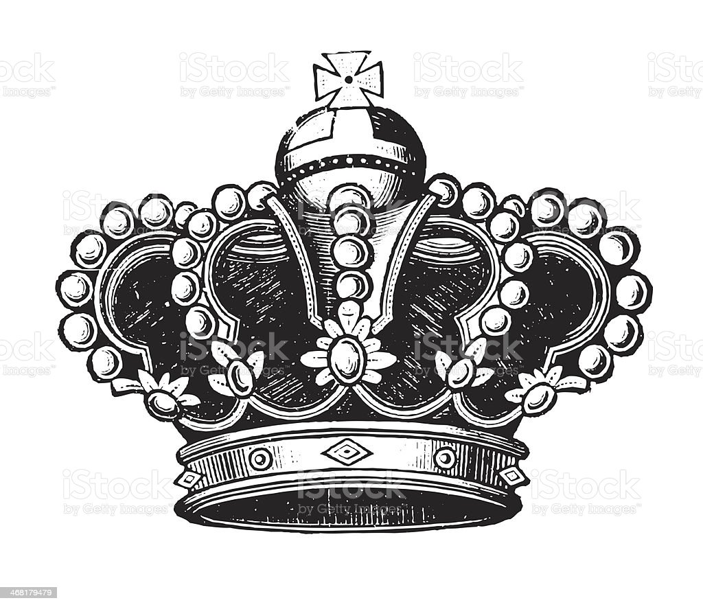 Antique Vintage Crown royalty-free stock photo