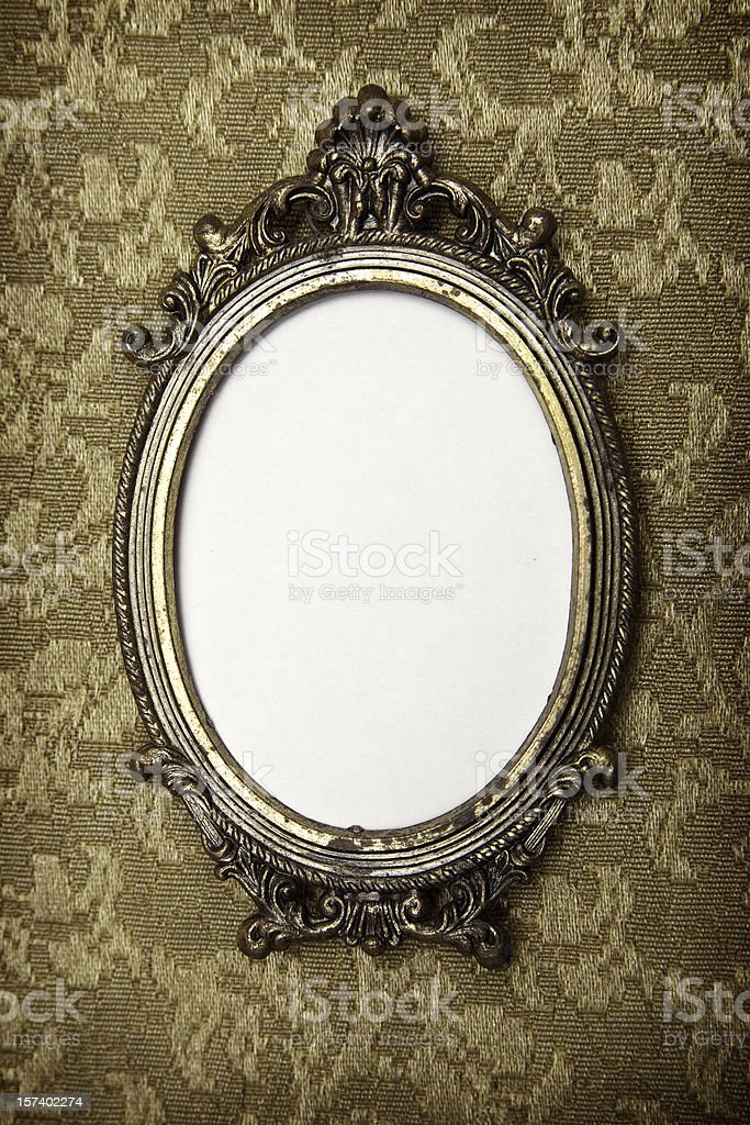Antique Vintage Picture Frame stock photo