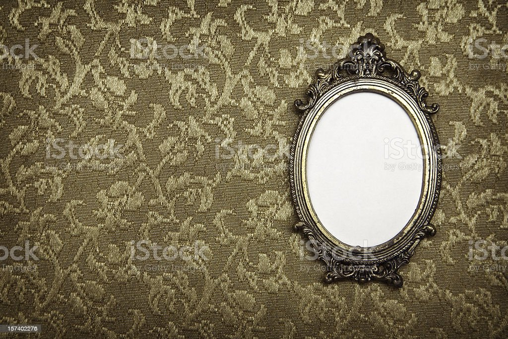 Antique Vintage Picture Frame royalty-free stock photo