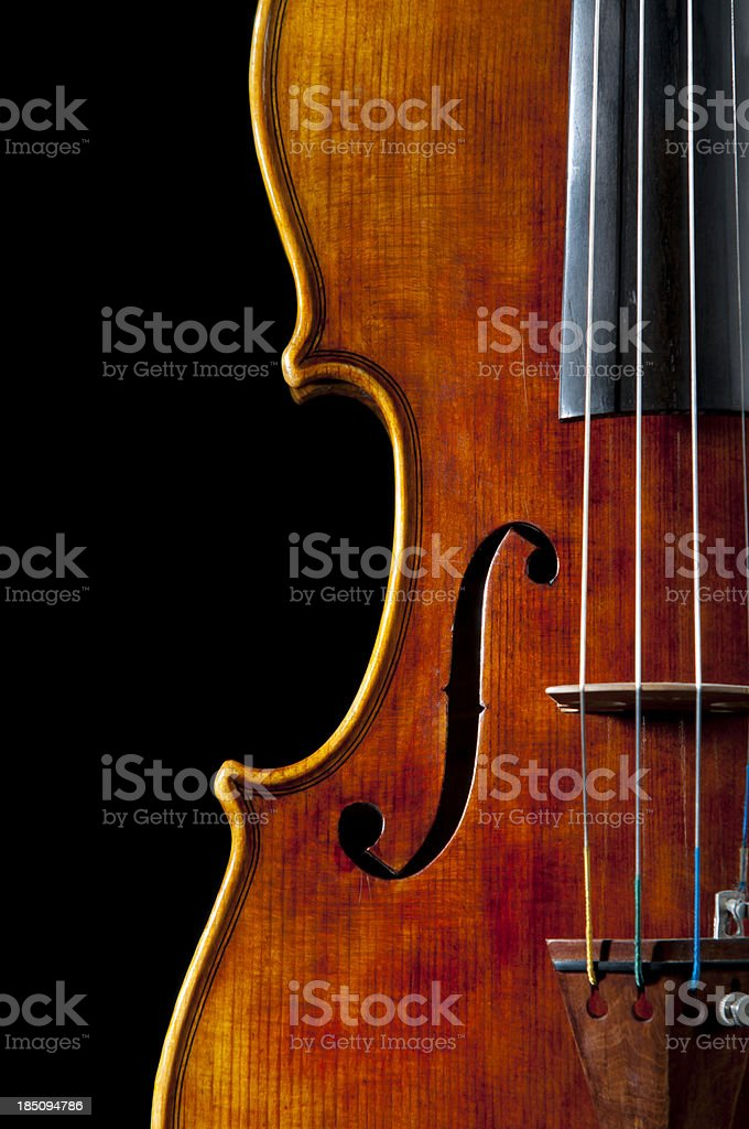 Antique Violin stock photo