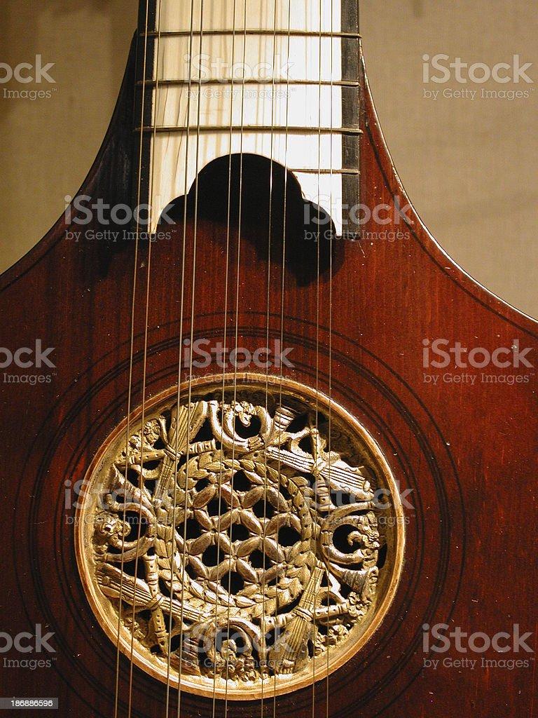 Antique violin royalty-free stock photo