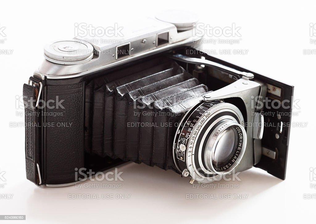 Antique Voigtlander Bessa II rangefinder camera stock photo