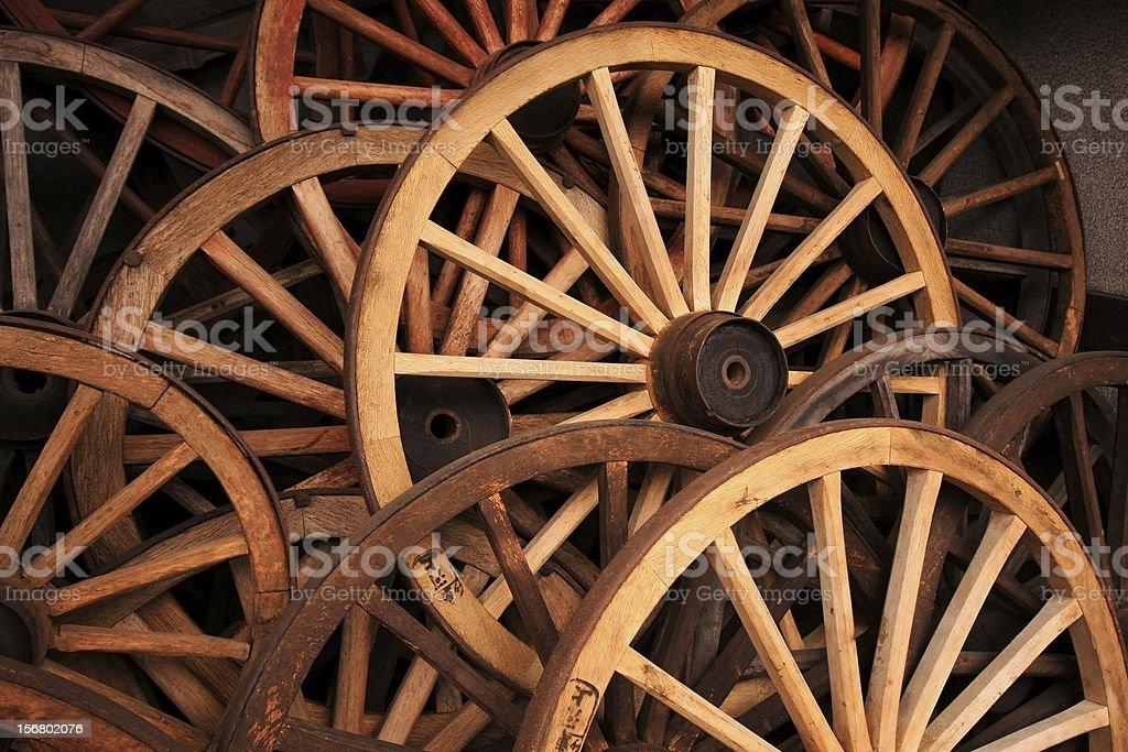 Antique wagon wheel old royalty-free stock photo