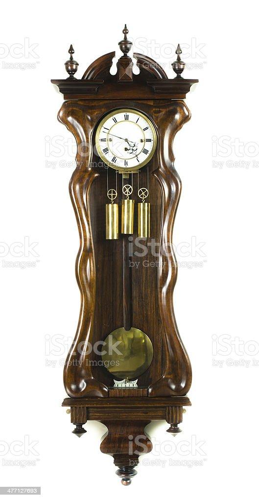 Antique Wall Clock, Austria, Circa 1875 royalty-free stock photo