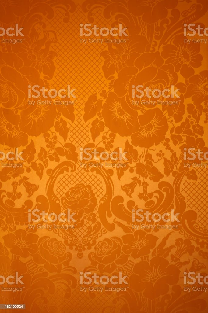 Antique wallpaper pattern stock photo