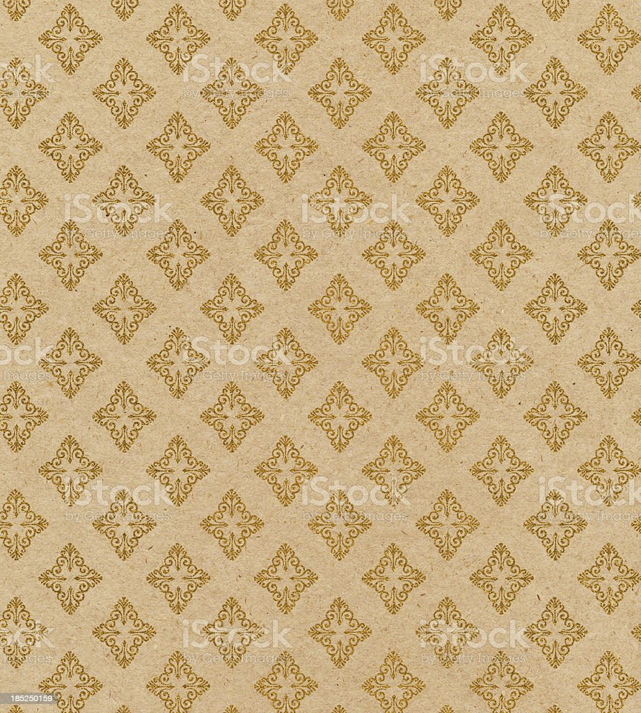 antique wallpaper with glitter pattern stock photo