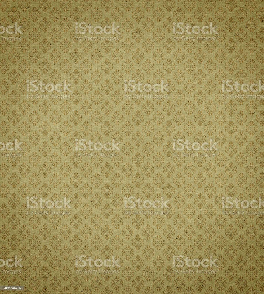 Antique wallpaper with gold leaf background texture royalty-free stock photo