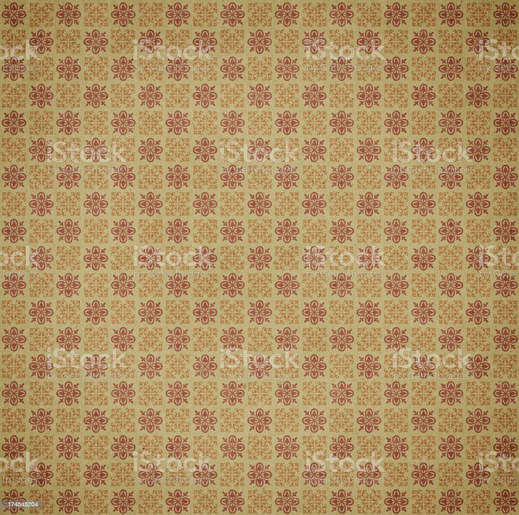antique wallpaper with ornament royalty-free stock photo