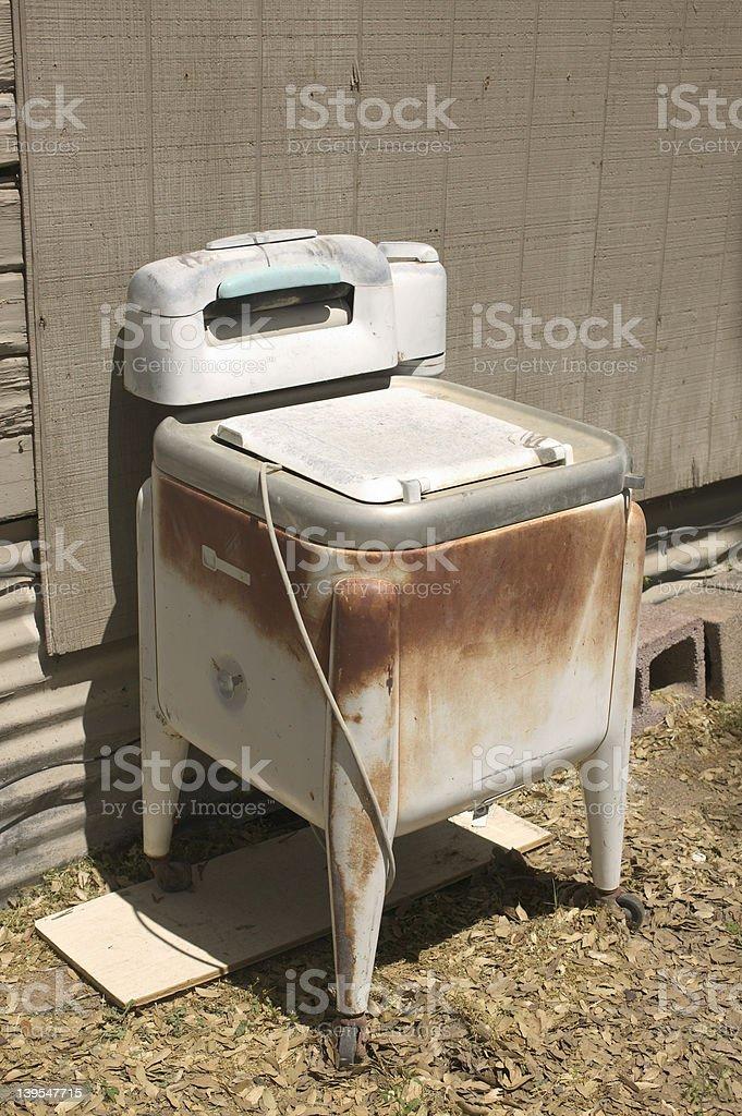 Antique washing machine royalty-free stock photo