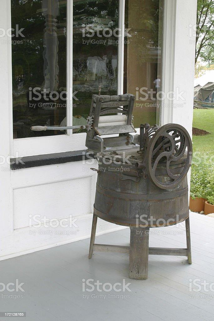 Antique Washing Machine stock photo