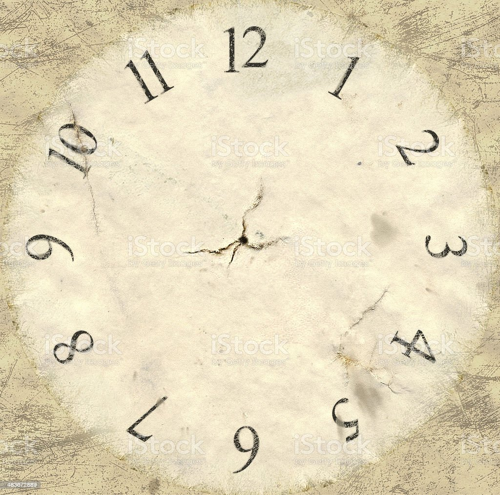 Antique Watch Face Backing royalty-free stock photo