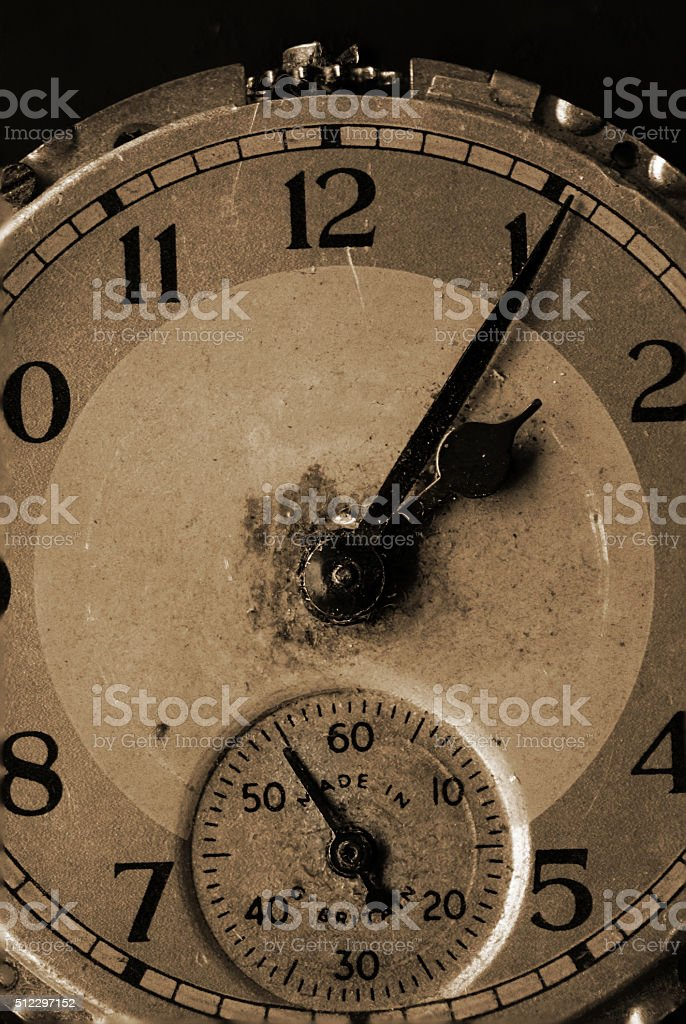 Antique watch face stock photo