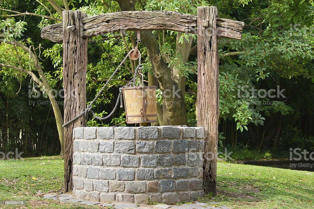 Antique Water Well stock photo