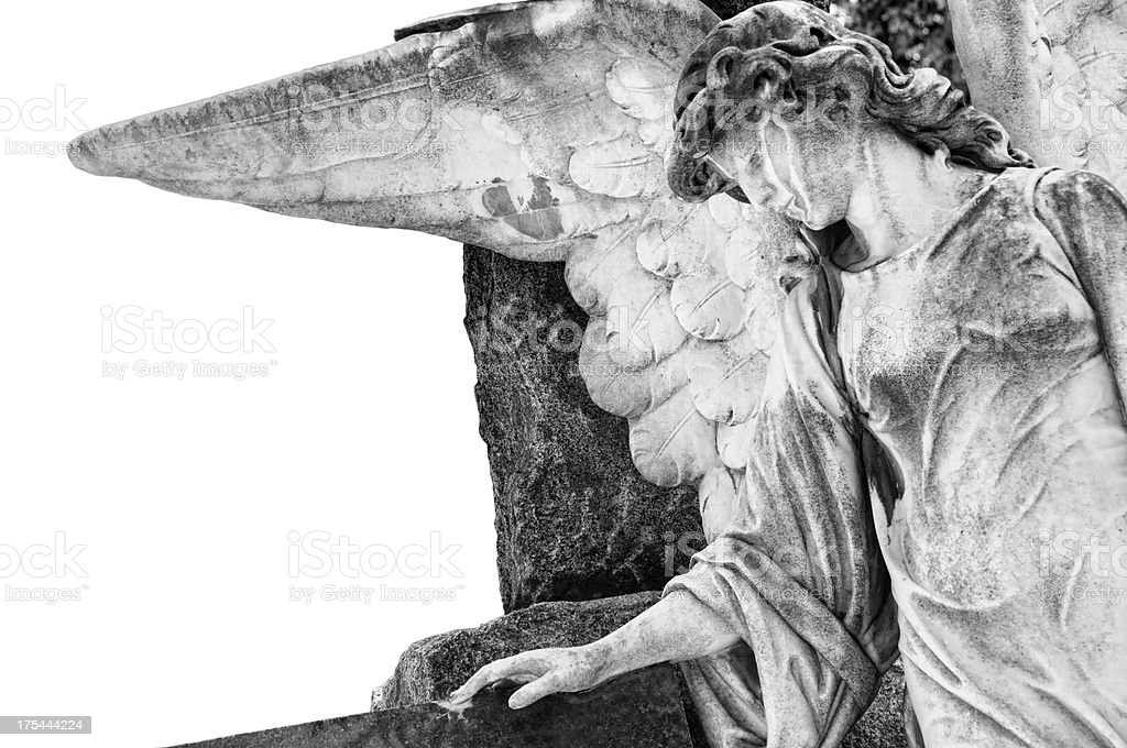 Antique weathered angel statue royalty-free stock photo