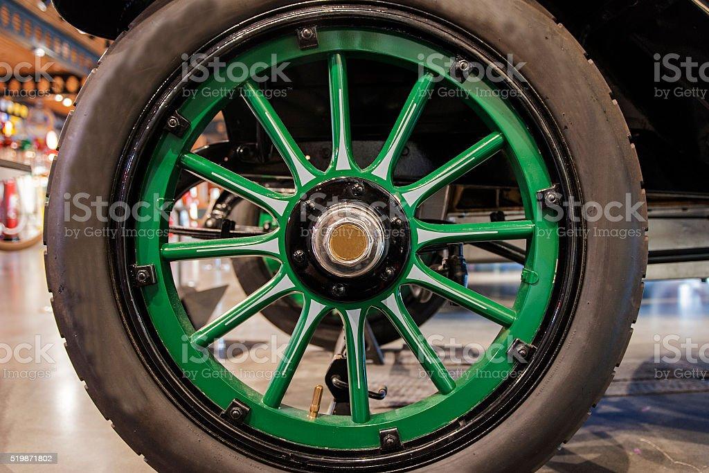 Antique wheel stock photo
