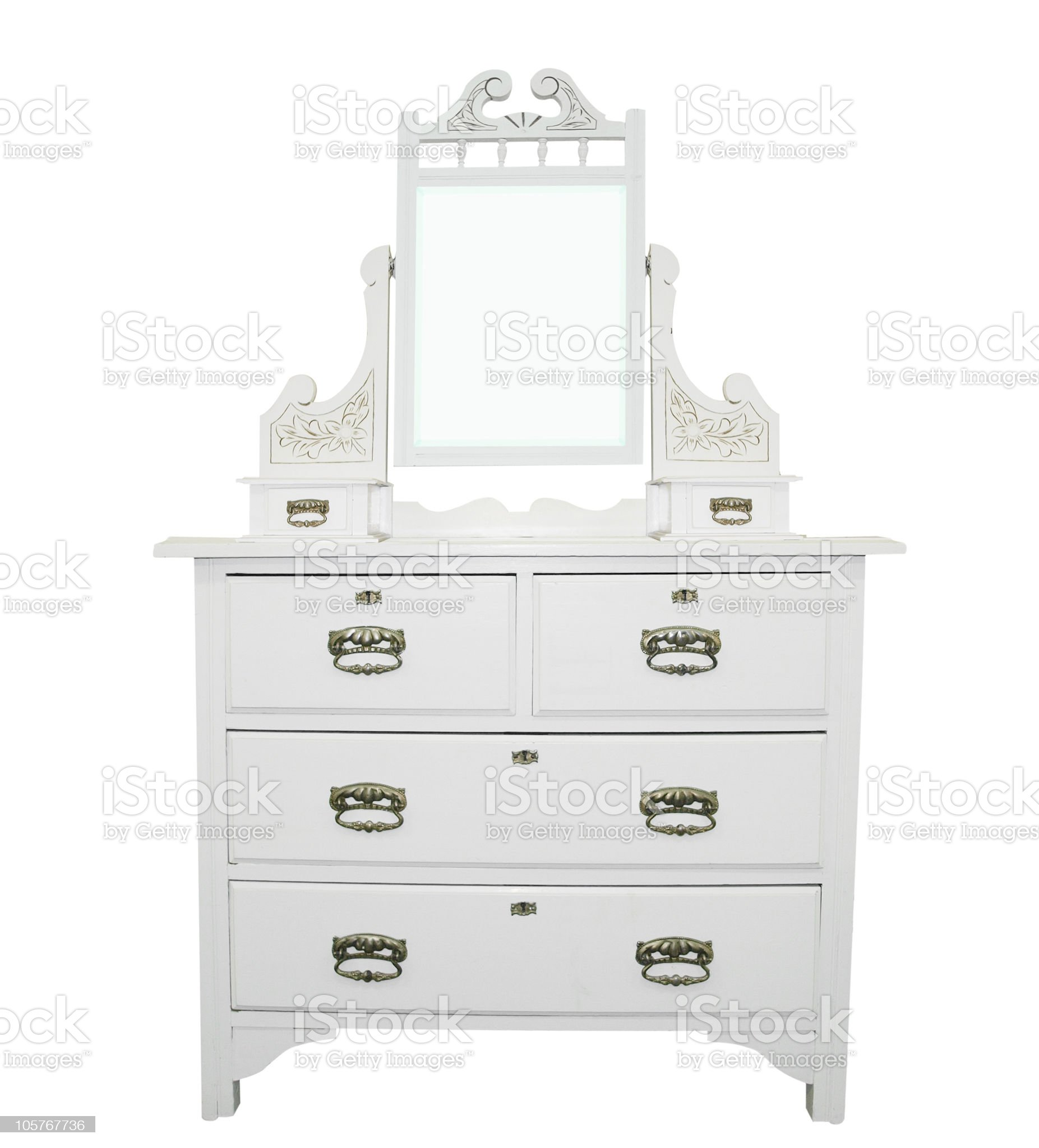 Antique White Dressing Table royalty-free stock photo